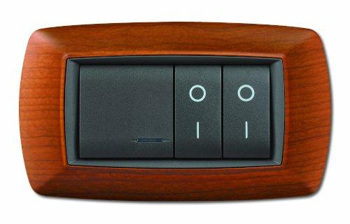 serie civile elettrocanali my life legno chiaro 4 moduli