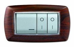 serie civile elettrocanali my life legno scuro 4 moduli