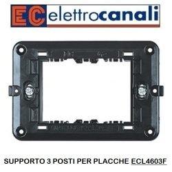 Supporto elettrocanali 3 posti